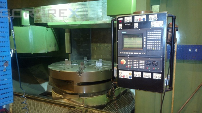 CNC VERTICAL LATHE DÖRRIES Model: VCE 180 with C axis and live tool, pallet changer (3 pallets - tables)